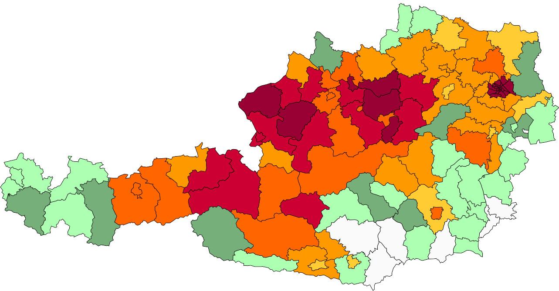 Absolute Verteilungskarten Nachnamen Aigner