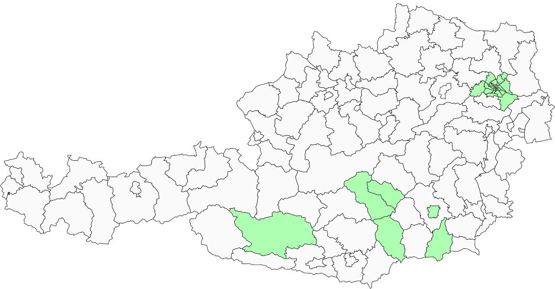 Absolute Verteilungskarten Nachnamen Birker