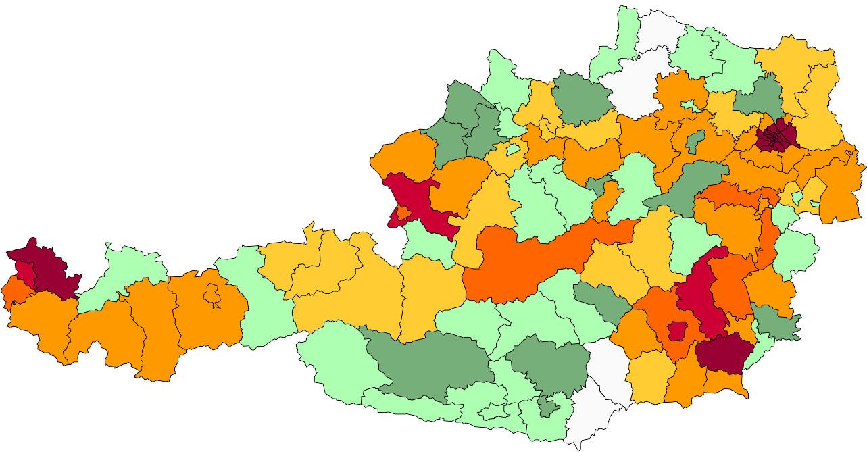 Absolute Verteilungskarten Nachnamen Fink