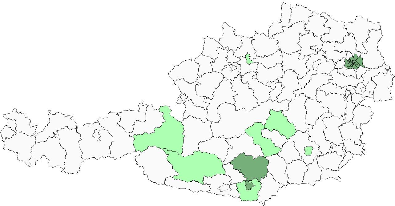 Absolute Verteilungskarten Nachnamen Höferer