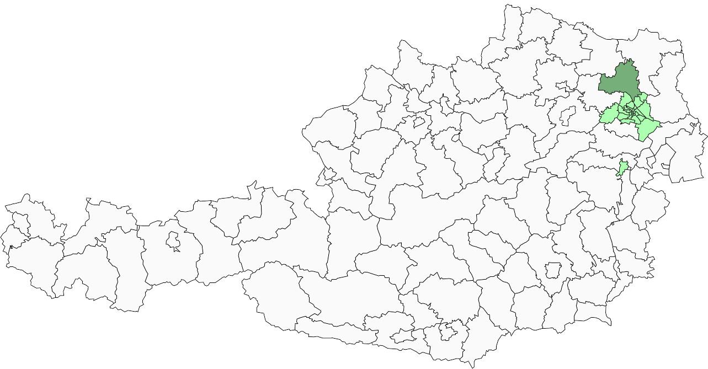 Absolute Verteilungskarten Nachnamen Höfferl