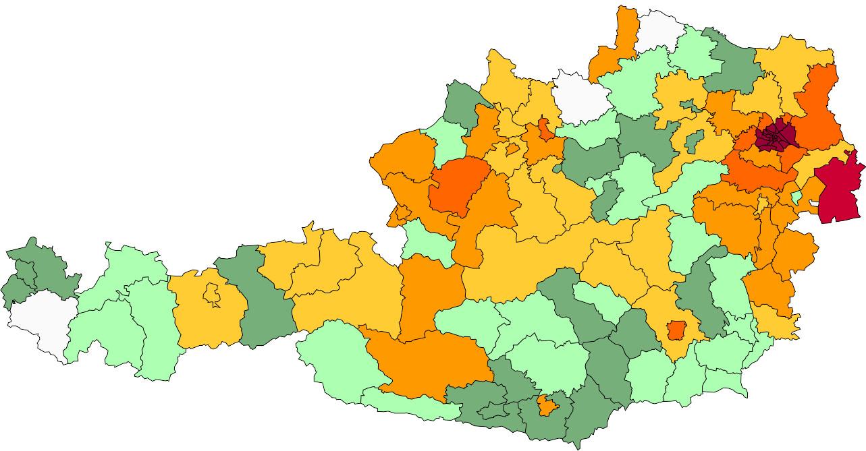 Absolute Verteilungskarten Nachnamen Hoffmann