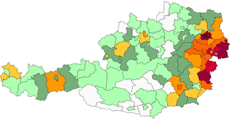 Absolute Verteilungskarten Nachnamen Horvath