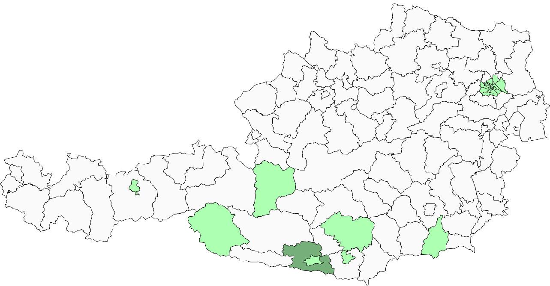 Absolute Verteilungskarten Nachnamen Köffler