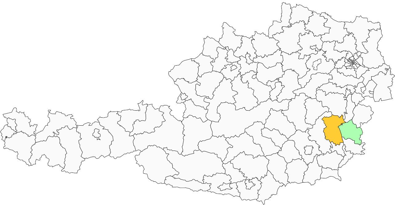 Absolute Verteilungskarten Nachnamen Kraußler