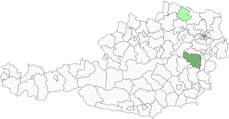 Absolute Verteilungskarten Nachnamen Krausl