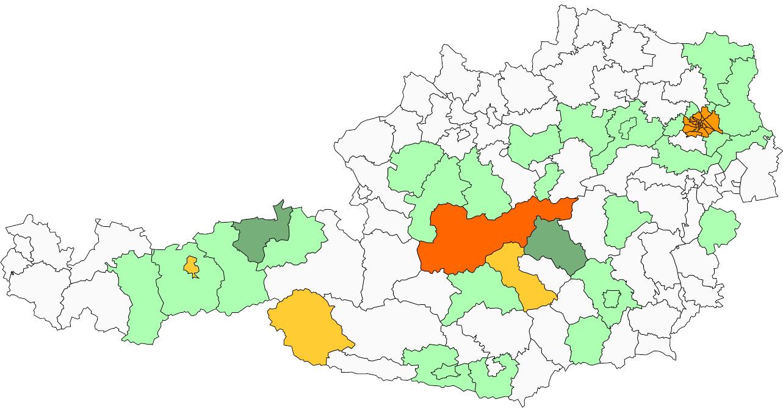 Absolute Verteilungskarten Nachnamen Mayerl