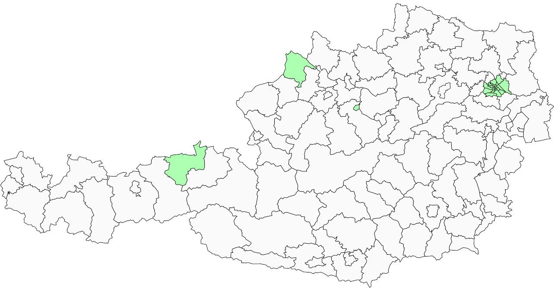 Absolute Verteilungskarten Nachnamen Mooser