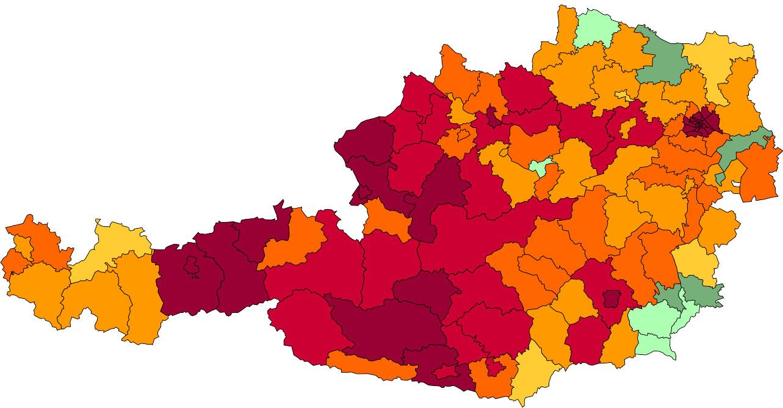 Absolute Verteilungskarten Nachnamen Moser