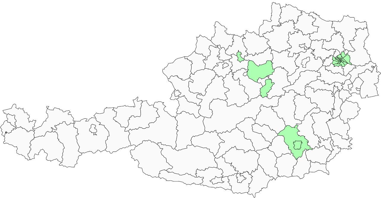 Absolute Verteilungskarten Nachnamen Muller