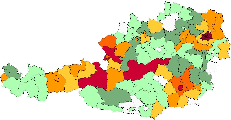 Absolute Verteilungskarten Nachnamen Schwab