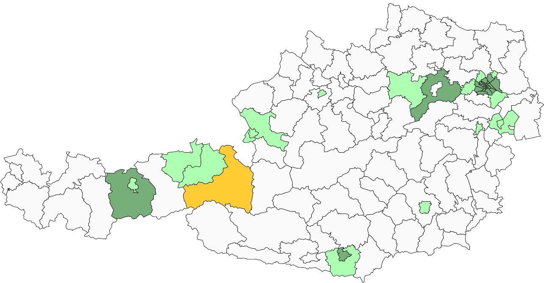 Absolute Verteilungskarten Nachnamen Stainer