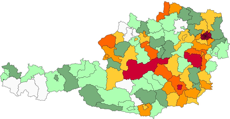 Absolute Verteilungskarten Nachnamen Stangl