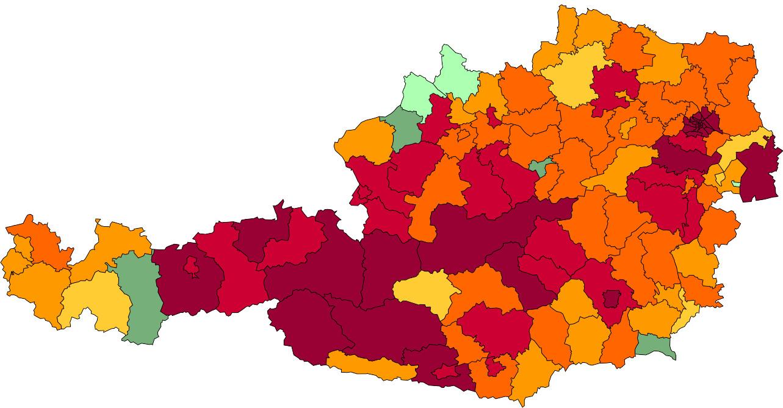 Absolute Verteilungskarten Nachnamen Steiner