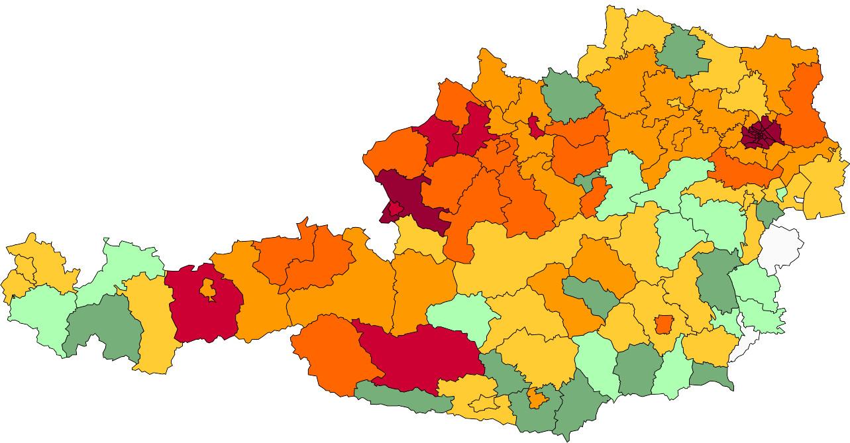 Absolute Verteilungskarten Nachnamen Strasser
