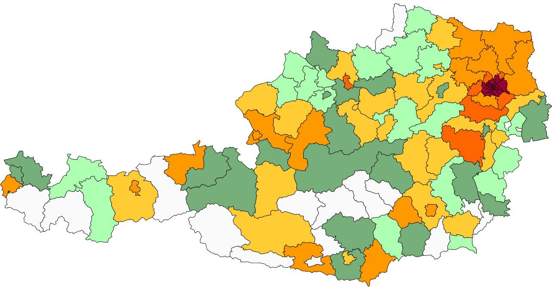 Absolute Verteilungskarten Nachnamen Urban