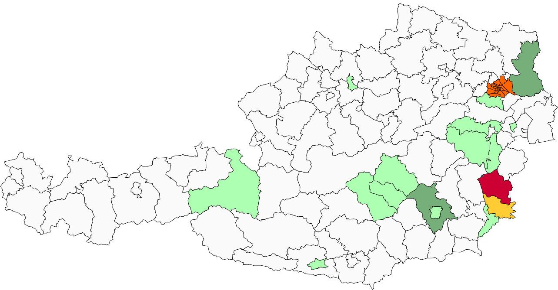 Absolute Verteilungskarten Nachnamen Wölfer