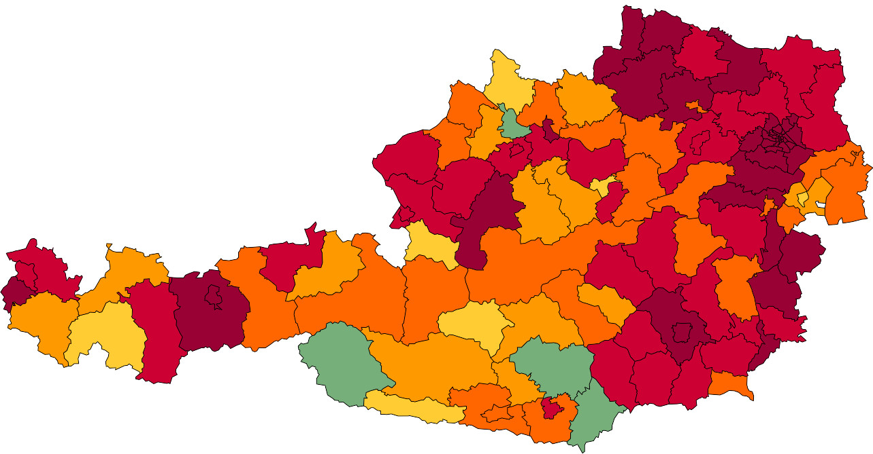 Absolute Verteilungskarten Nachnamen Weber