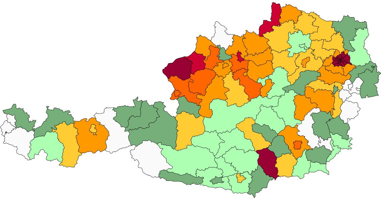 Absolute Verteilungskarten Nachnamen Weinberger