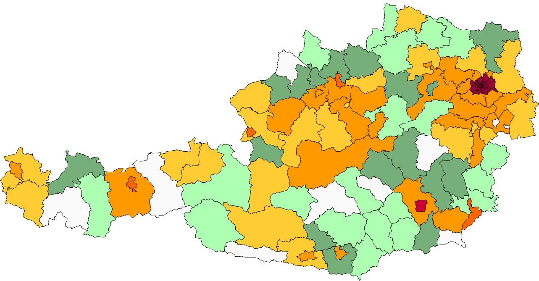 Absolute Verteilungskarten Nachnamen Werner