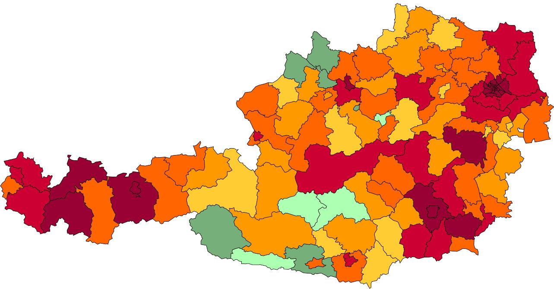 Absolute Verteilungskarten Nachnamen Wolf