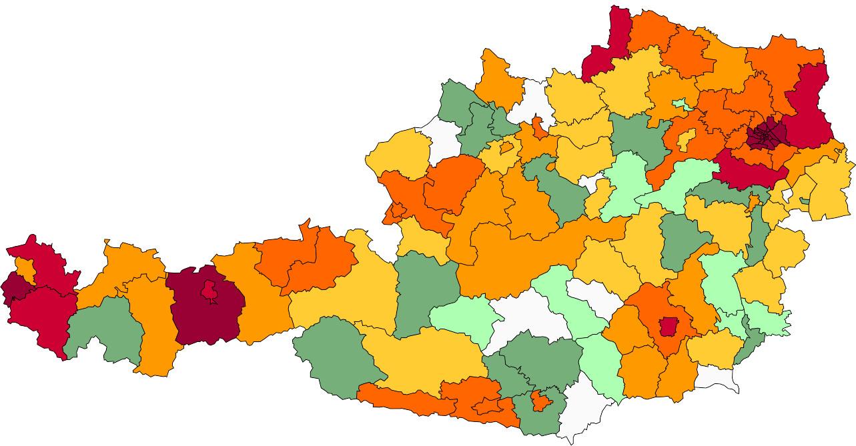 Absolute Verteilungskarten Nachnamen Zimmermann